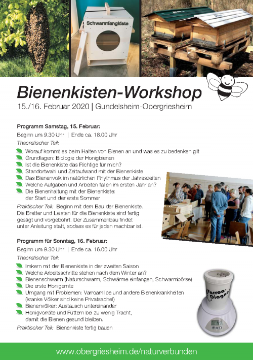 Bienenkisten-Workshop 2020